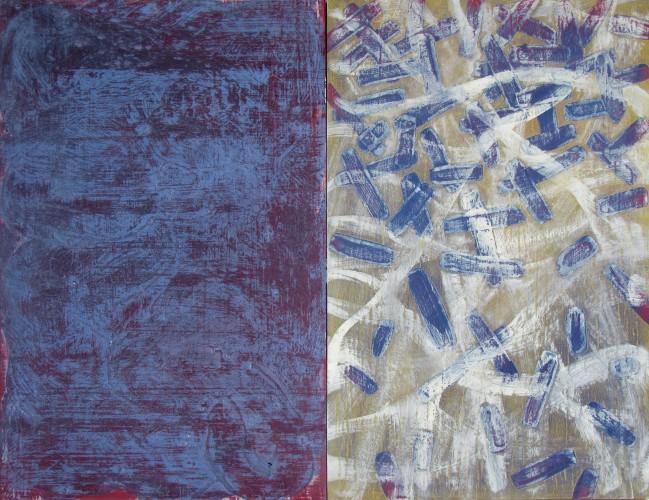 Mon Painting XV (purple/blue), 2007