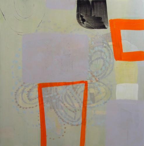 Orange Figure, Grey Ground, 2006