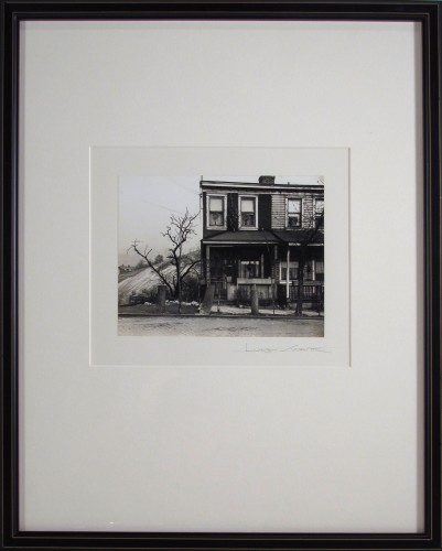 Untitled (Rowhouse with Hill in Background)