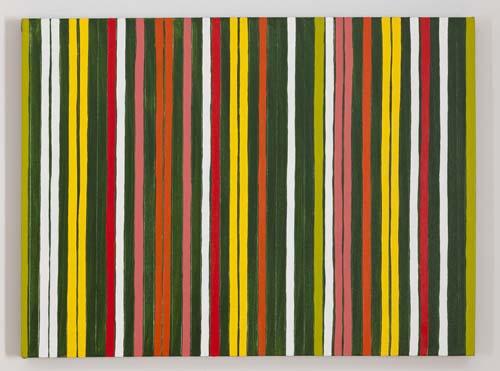 Anna Mikolay 8 White Stripes (Or, Green with Stripes)