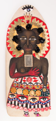 Black Madonna, Ironing Board, 2015